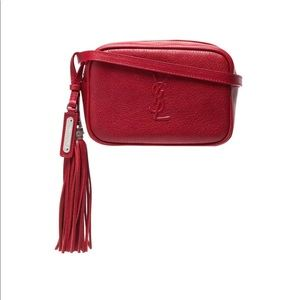 Red YSL belt bag